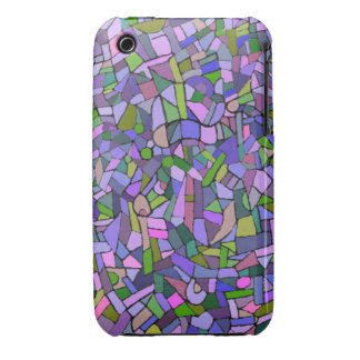 Purple Pink Abstract Mosaic Pattern Case-Mate iPhone 3 Case