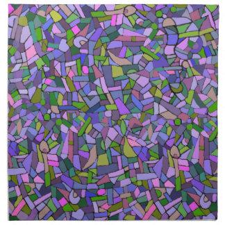 Purple Pink Abstract Mosaic Pattern Cloth Napkins