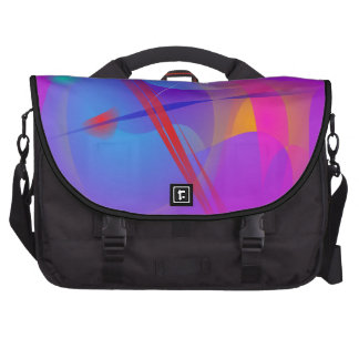 Purple Pink Abstract Space with Red Impact Bag For Laptop
