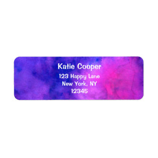 Purple Pink Abstract Texture Return Address Label