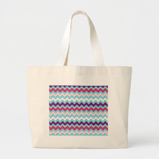 Purple Pink and White Chevron Tote Bags
