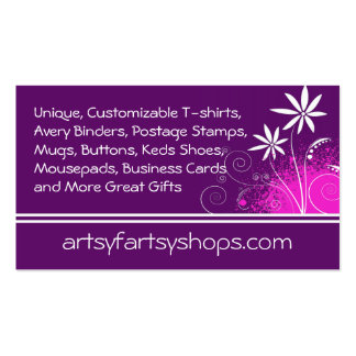 Purple, Pink and White Flowers Double-Sided Standard Business Cards (Pack Of 100)