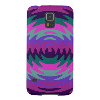 Purple Pink Aqua Saw Blade Ripples Waves Galaxy S5 Cover