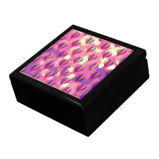Purple Pink Balloon Pattern Gift Box