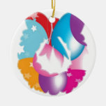 PURPLE Pink Baloons n Stars Festival Christmas Tree Ornament