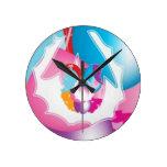 PURPLE Pink Baloons n Stars Festival Wall Clocks