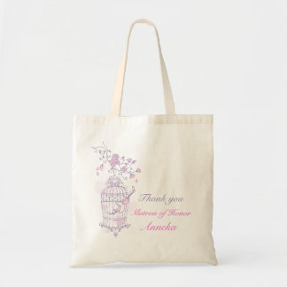Purple pink bird wedding Matron of Honor bag