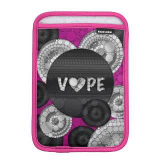 Purple Pink Black 3D Vape Heart iPad Mini Sleeve