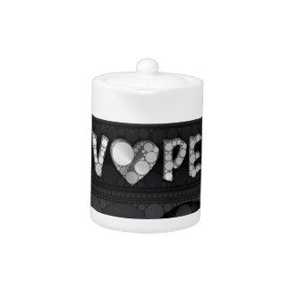 Purple Pink Black 3D Vape Heart Teapot