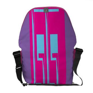 Purple,Pink,Blue Messenger Bag.