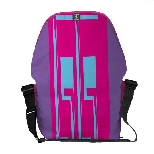 Purple,Pink,Blue Messenger Bag. Messenger Bag