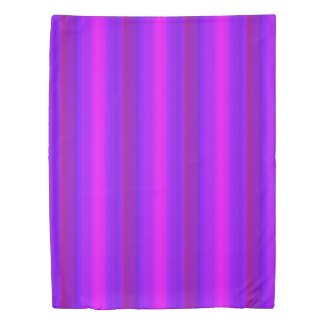 Purple Pink Blue Red Stripe Duvet Cover
