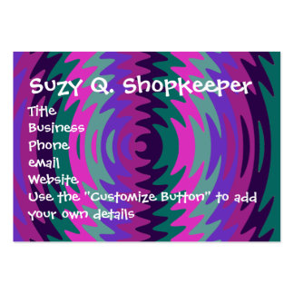 Purple Pink Blue Saw Blade Ripples Waves Large Business Card