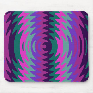 Purple Pink Blue Saw Blade Ripples Waves Mouse Pad