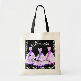 PURPLE & PINK Bridesmaid Dresses Tote Bag