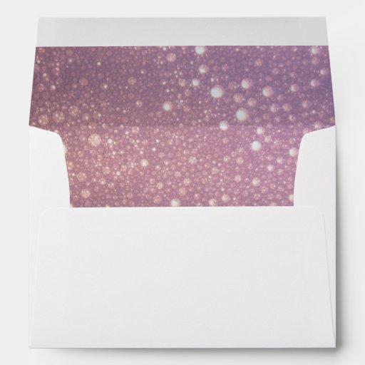 purple pink bubble lined white a7 envelopes zazzle