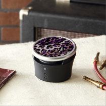 Purple Pink Cheetah Abstract Bluetooth Speaker