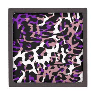Purple Pink Cheetah Abstract Keepsake Box