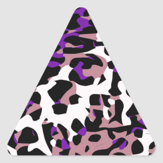 Purple Pink Cheetah Abstract Triangle Sticker