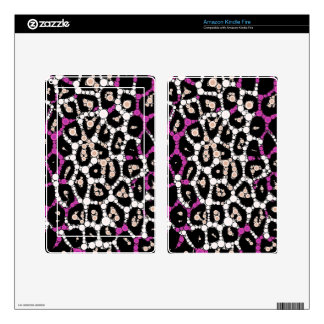 Purple Pink Cheetah Circle Abstract Kindle Fire Decals