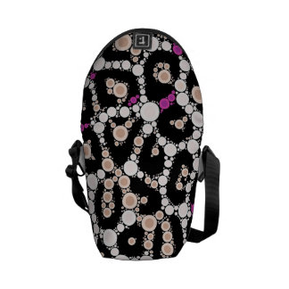 Purple Pink Cheetah Circle Abstract Messenger Bag