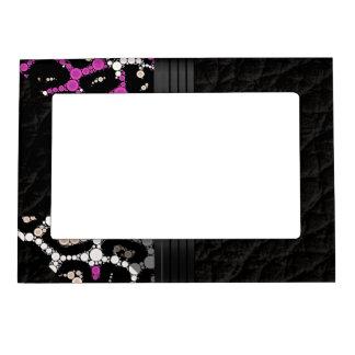 Purple Pink Cheetah Magnetic Photo Frame
