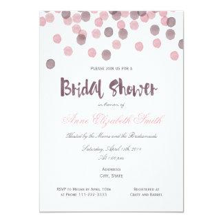 Purple & Pink Confetti Bridal Shower Invitation