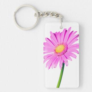 Purple Pink Daisy Customized  Daisies Template Keychain