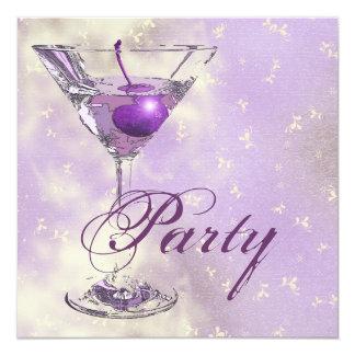 Purple pink elegant formal party card
