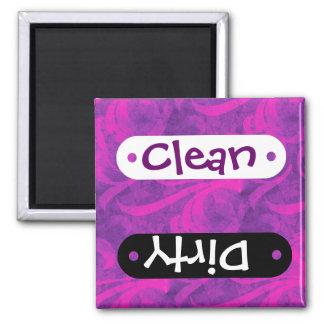 Purple Pink Floral Swirl Flourish Girly Pattern 2 Inch Square Magnet