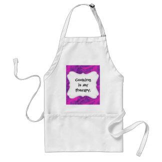 Purple Pink Floral Swirl Flourish Girly Pattern Aprons
