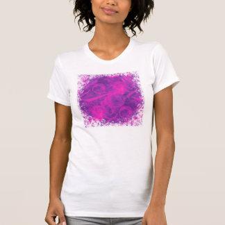 Purple Pink Floral Swirl Flourish Girly Pattern T-Shirt