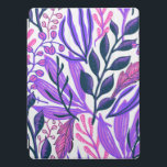 """Purple & Pink Floral themed iPad Pro Cover<br><div class=""""desc"""">Gift your loved ones these amazing Flower and Floral themed products!</div>"""