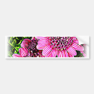 Purple / Pink Flower Bumper Sticker