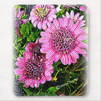 Purple / Pink Flower Mouse Pad