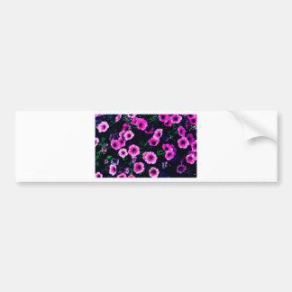 Purple pink flowers bumper sticker