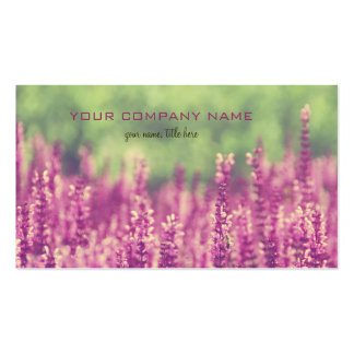 Purple Pink Flowers Field Double-Sided Standard Business Cards (Pack Of 100)