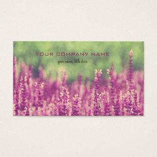 Purple Pink Flowers Field Business Card
