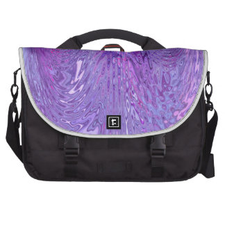 Purple & Pink Flowing Ripple Water Effect Abstract Bag For Laptop