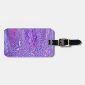 Purple & Pink Flowing Ripple Water Effect Abstract Tags For Bags