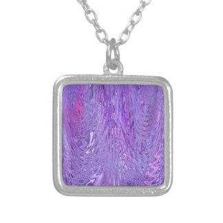Purple & Pink Flowing Ripple Water Effect Abstract Personalized Necklace