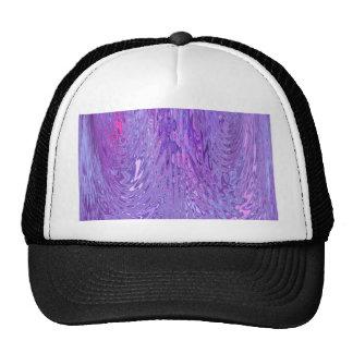 Purple & Pink Flowing Ripple Water Effect Abstract Trucker Hat