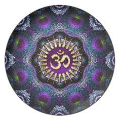 Purple Pink Fractals OM Sheild Art Custom Plate