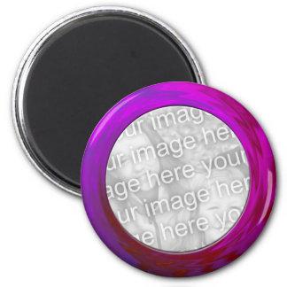 purple pink frame magnet