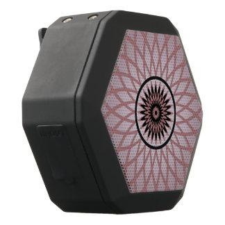 Purple Pink Geometric Flower Black Bluetooth Speaker
