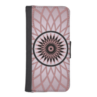Purple Pink Geometric Flower iPhone 5 Wallet Cases