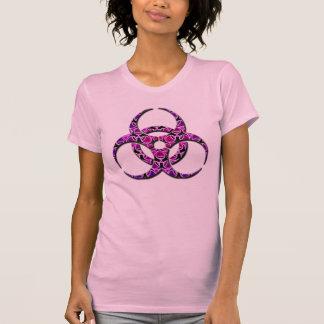 Purple pink girly biohazard tee shirt