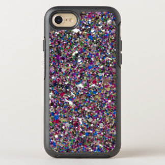Purple Pink Glitter Cool Colorful Chic Sparkles OtterBox Symmetry iPhone 7 Case