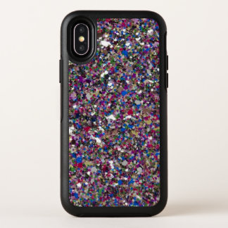 Purple Pink Glitter Cool Colorful Chic Sparkles OtterBox Symmetry iPhone X Case