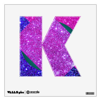 glitter letters wall decals wall stickers zazzle With pink glitter letters for wall